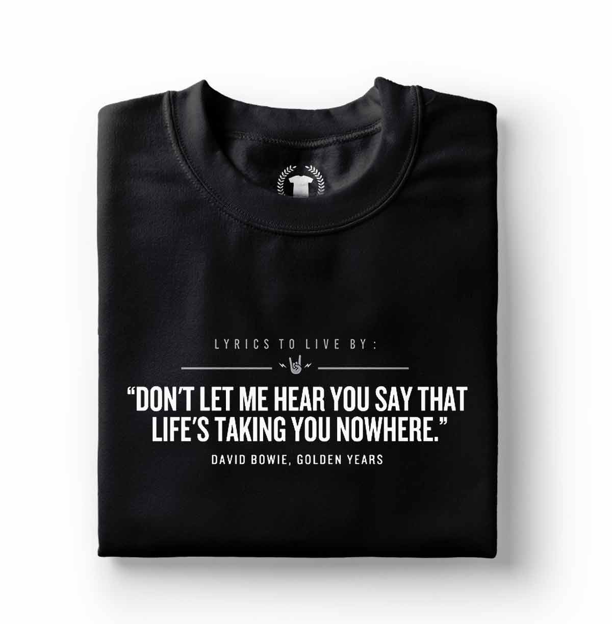 camiseta david bowie golden years