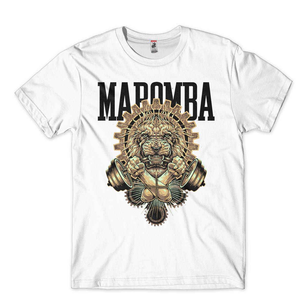 Camiseta de academia Masculina Bodybuilding Leão