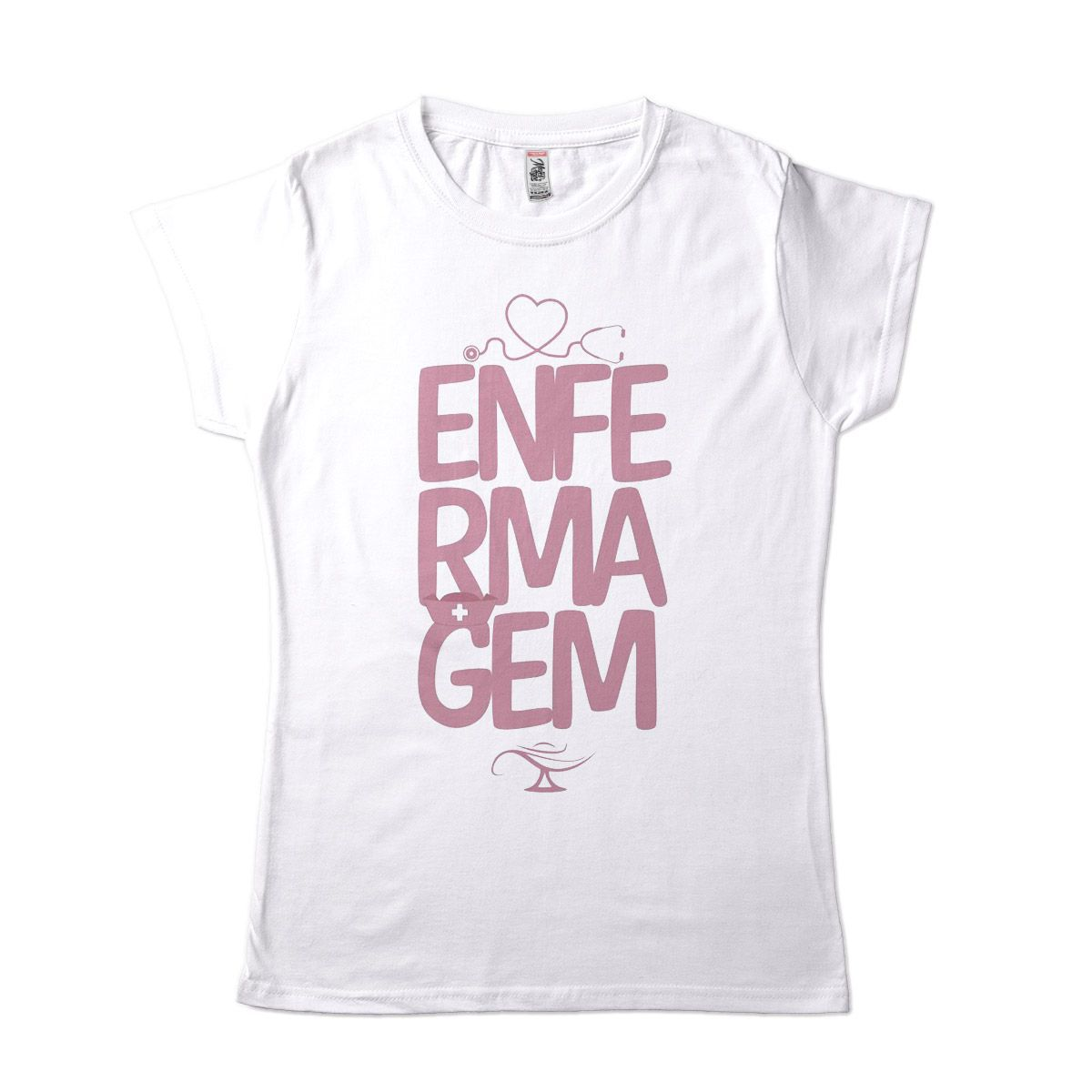 camiseta de enfermagem feminina