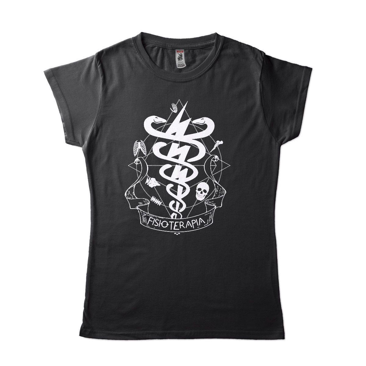 camiseta de fisioterapia criativa feminina e masculina