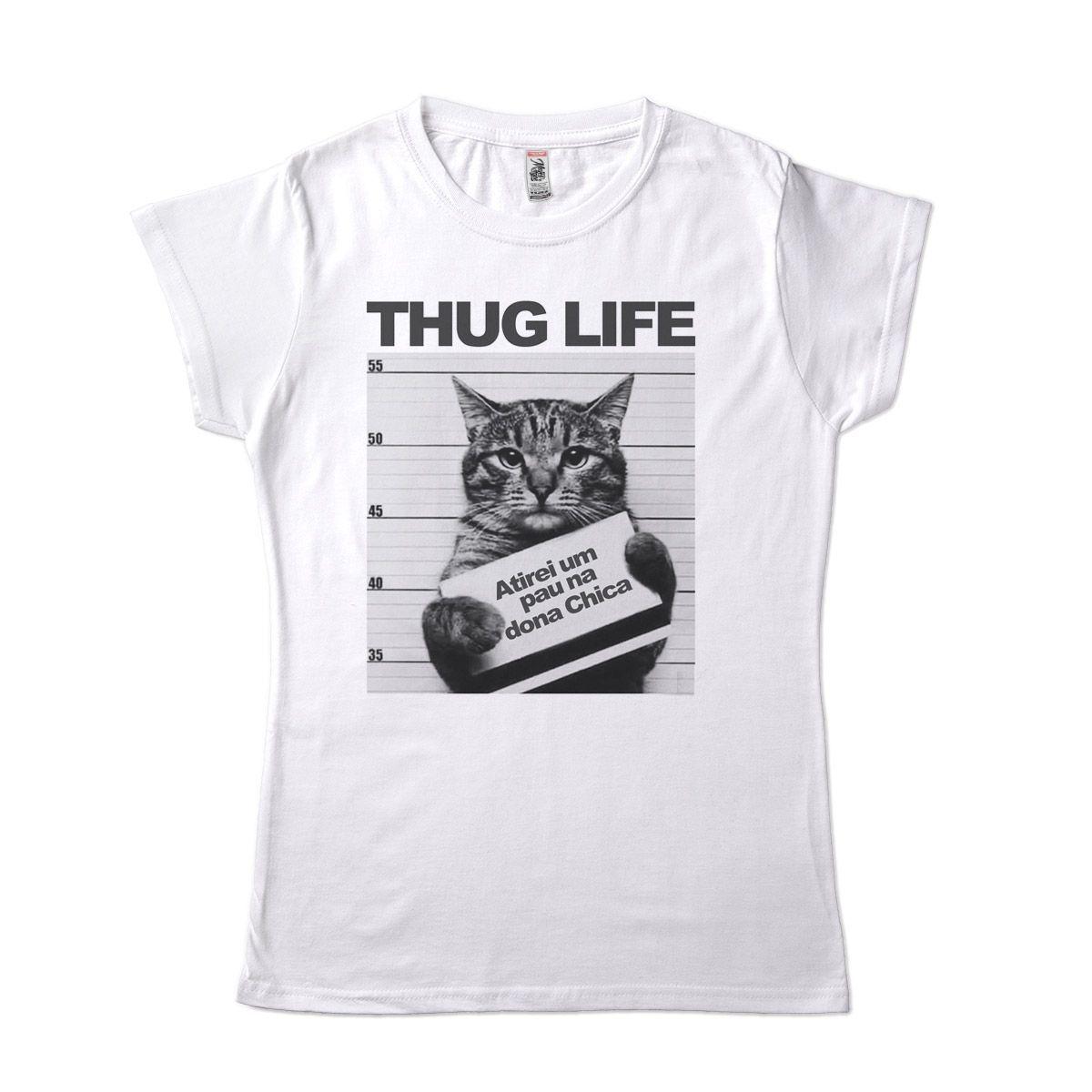 camiseta de gato preso engracada thuglife