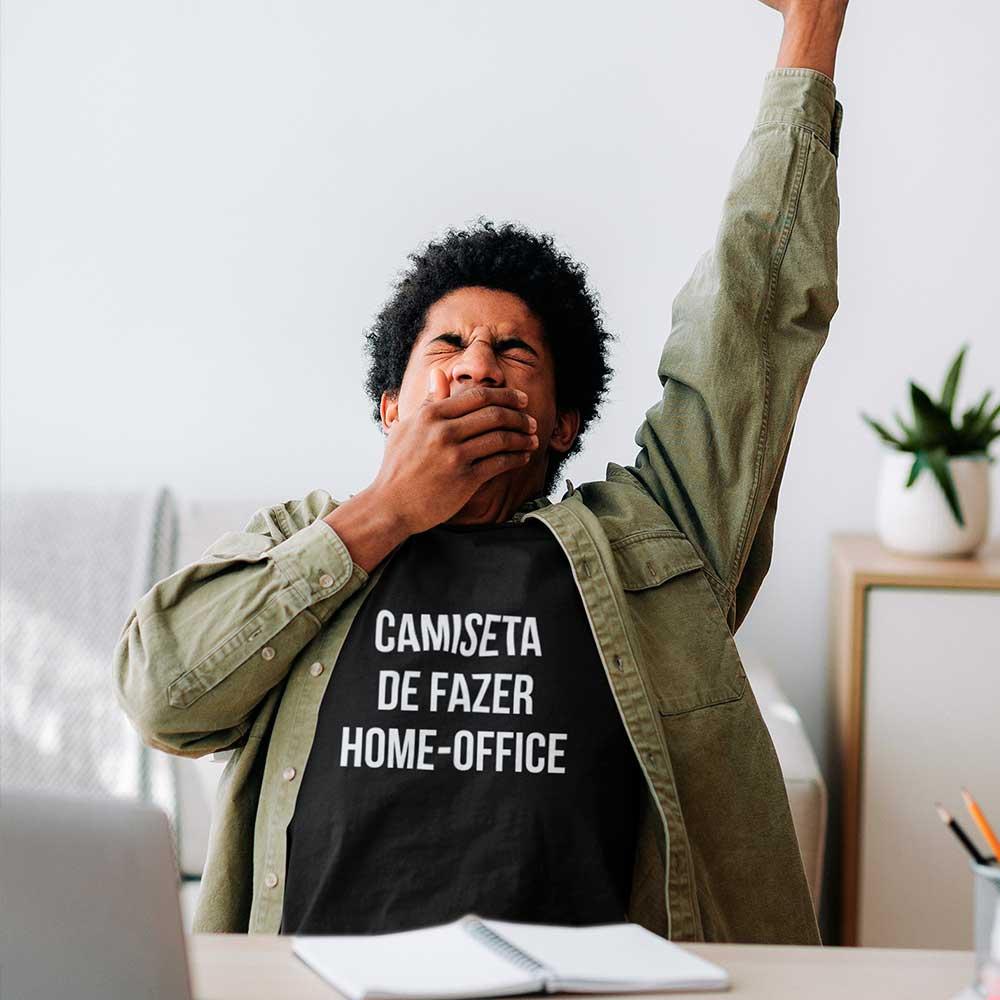 camiseta de home office camisa frases criativas