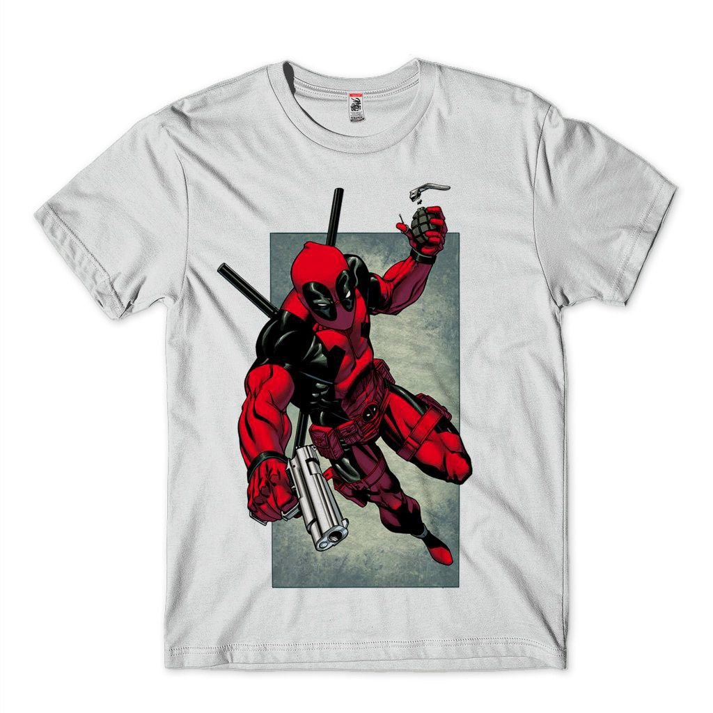 camiseta deadpool Marvel Camisa Masculina Super Herois