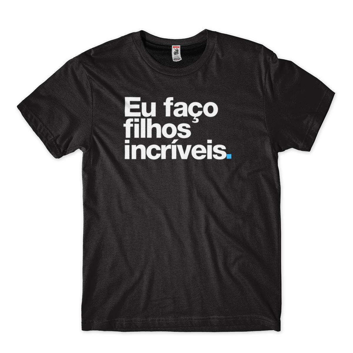 Camiseta Divertida Carnaval Faco Filhos Incriveis