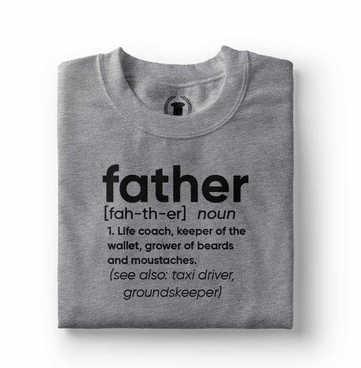 camiseta divertida para pai