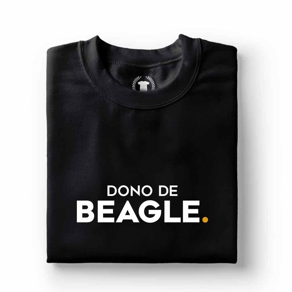 camiseta dono de cachorro beagle preta