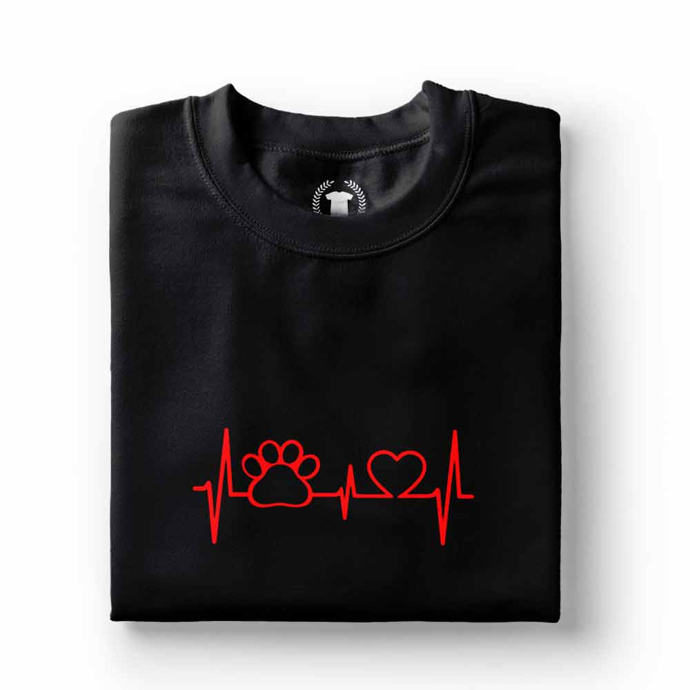 camiseta dono de cachorro sinais vitais preta