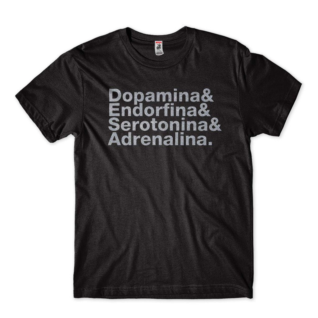 Camiseta Dopamina Endorfina Serotonina Adrenalina Masculina