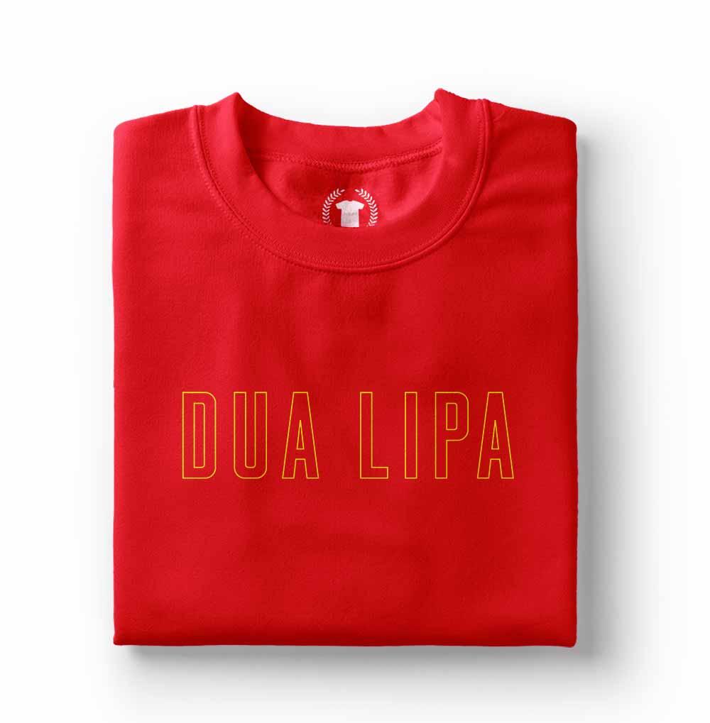 Camiseta Dua Lipa Dua Lipa Logo Physical vermelha