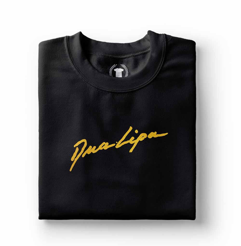 Camiseta Dua Lipa New Rules Novas Regras preta