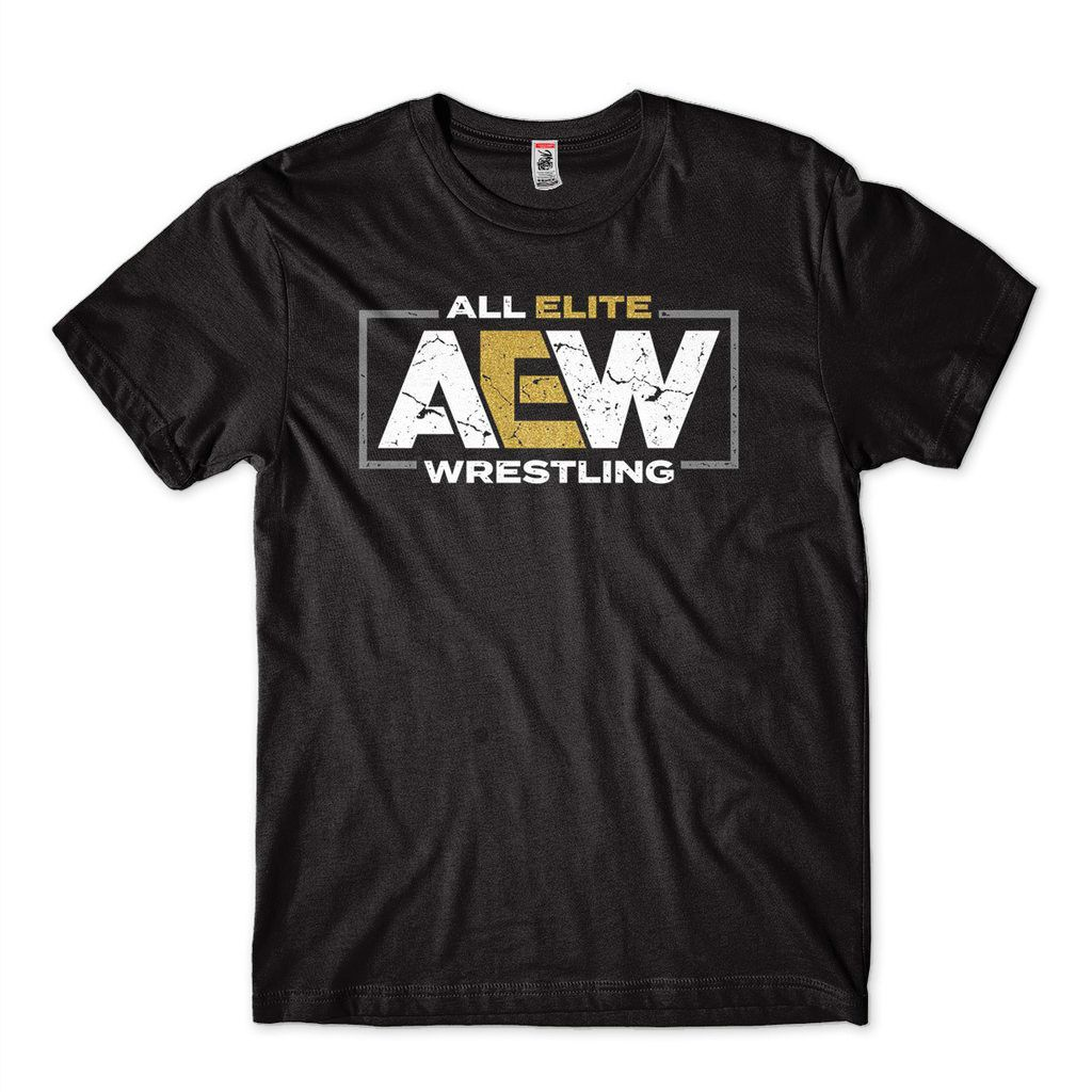 Camiseta Elite Wrestling AEW Masculina Preta Lutador WWE