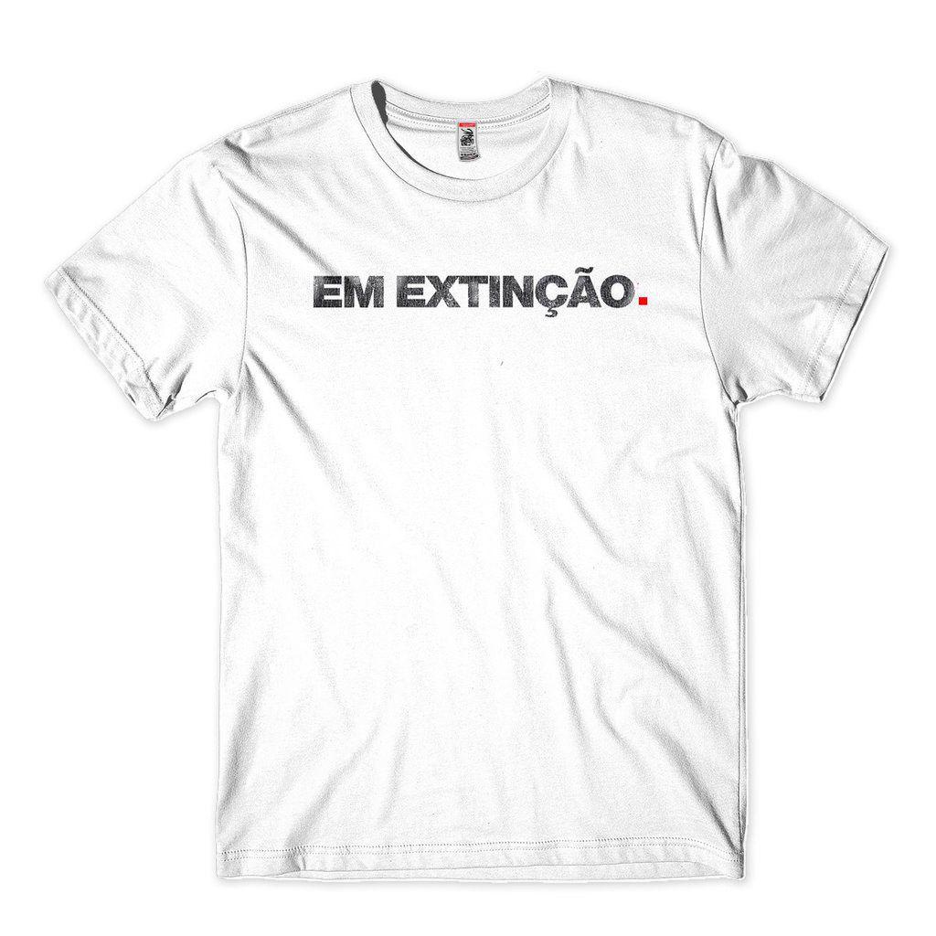 Camiseta Em Extincao Masculina Engracada Carnaval