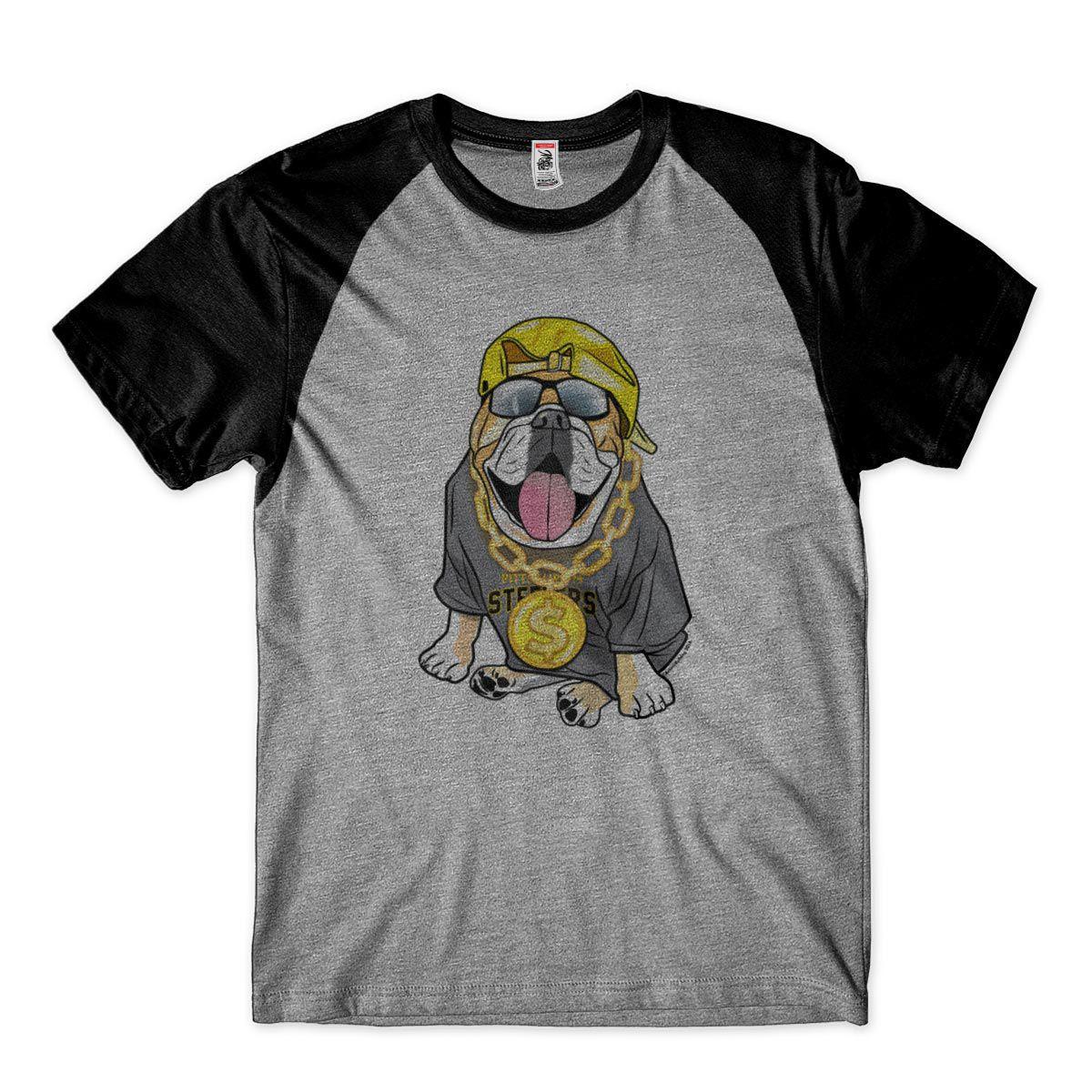 camiseta engracada dono de cachorro thuglife