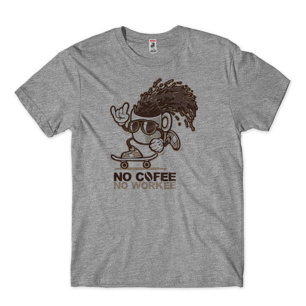 Camiseta Engracada Quero Cafe No Cofee No Work