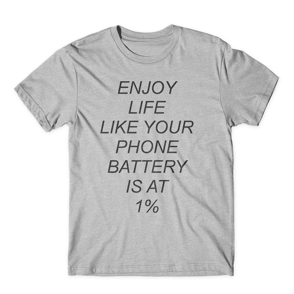 Camiseta Enjoy Life Battery 1Personalizada