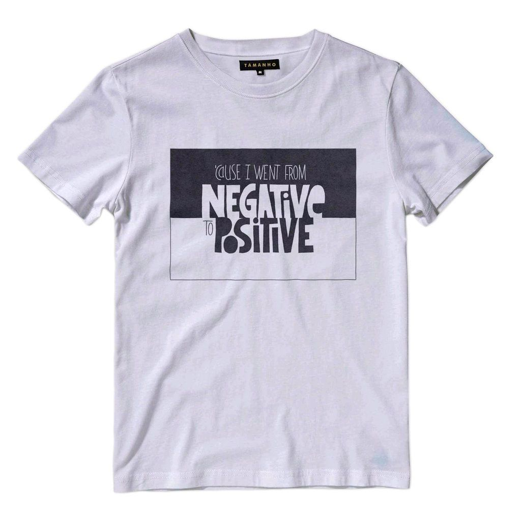 Camiseta Estampa de RAP notorious big negative to positive