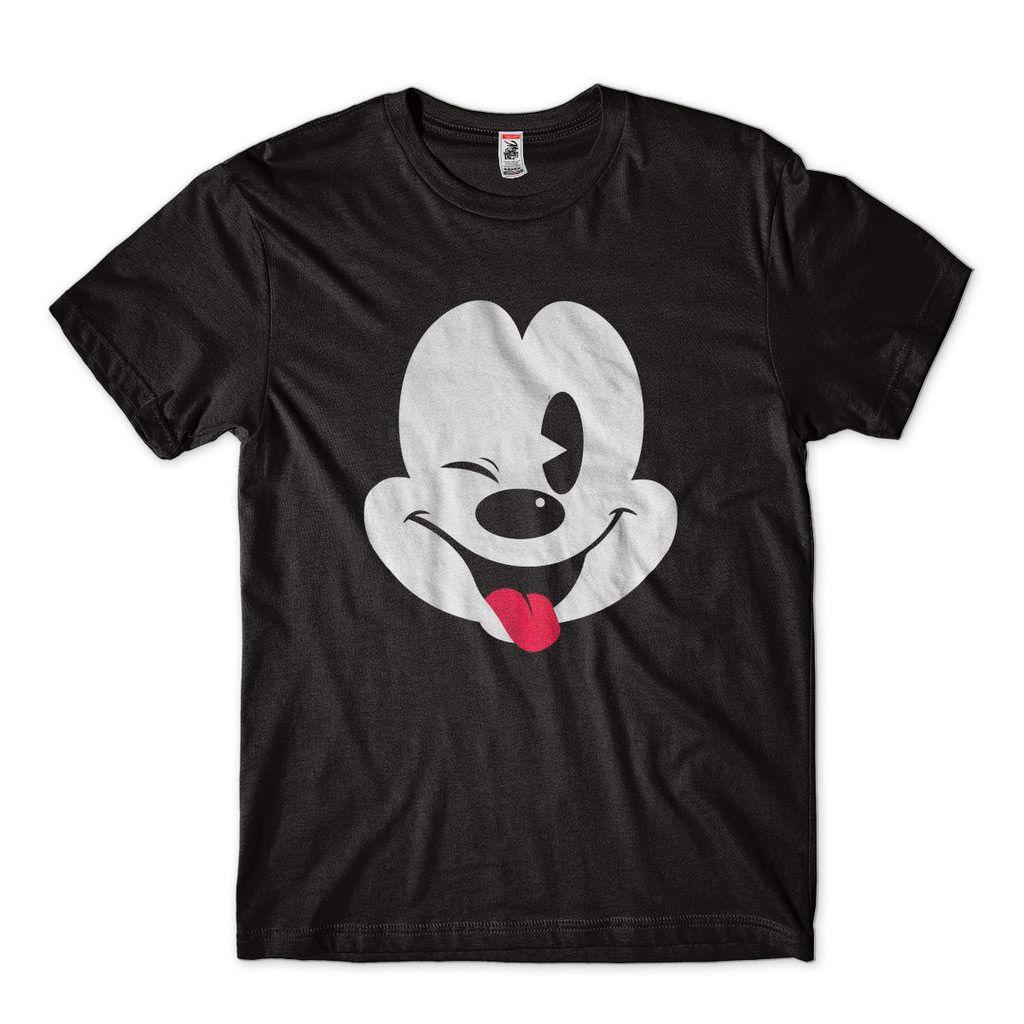 camiseta estampa mickey engracada preta