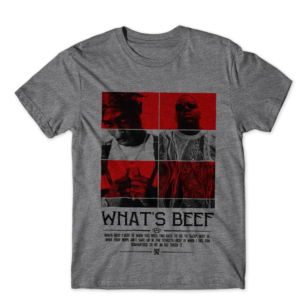 Camiseta Estampa RAP Notorious Big Tupac Gangsta Beef