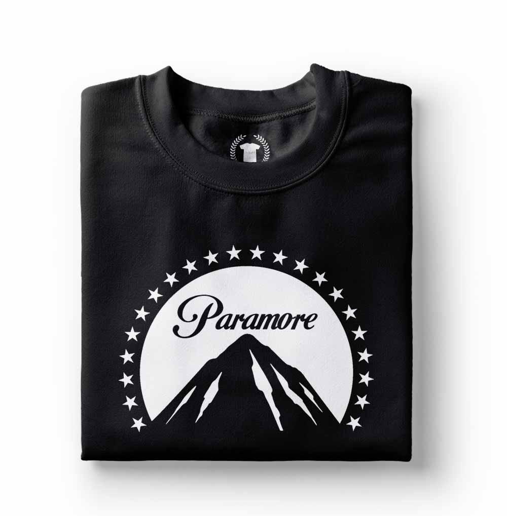 Camiseta estampada Paramore Paramount stars preta