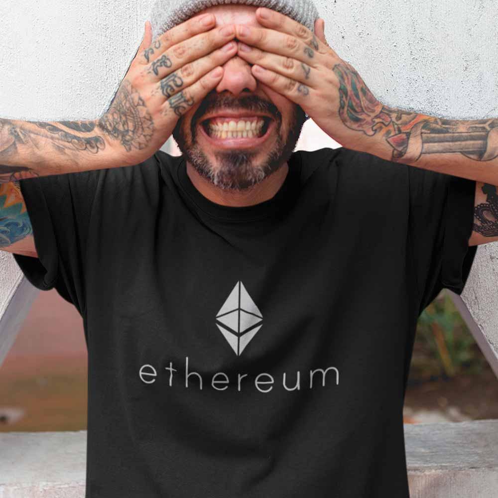 camiseta ethereum diamante blockchain