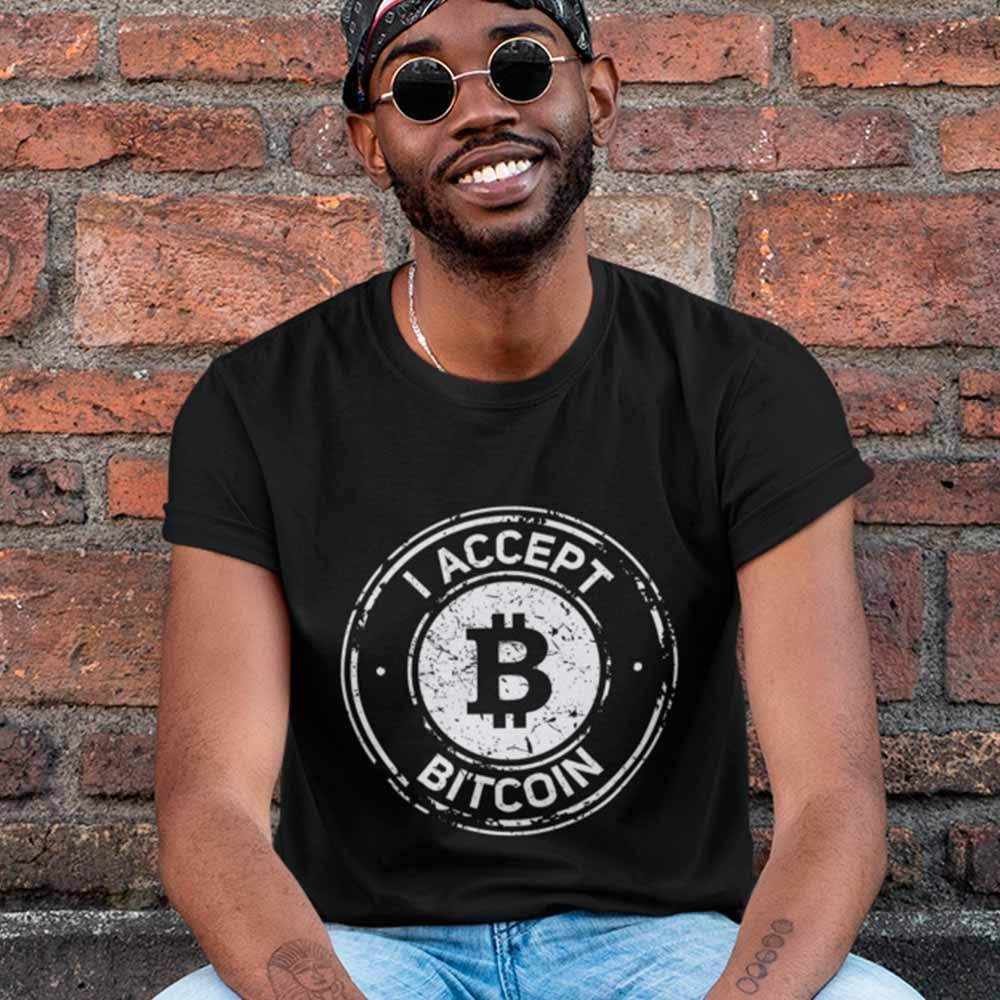 camiseta eu aceito dinheiro virtual btc
