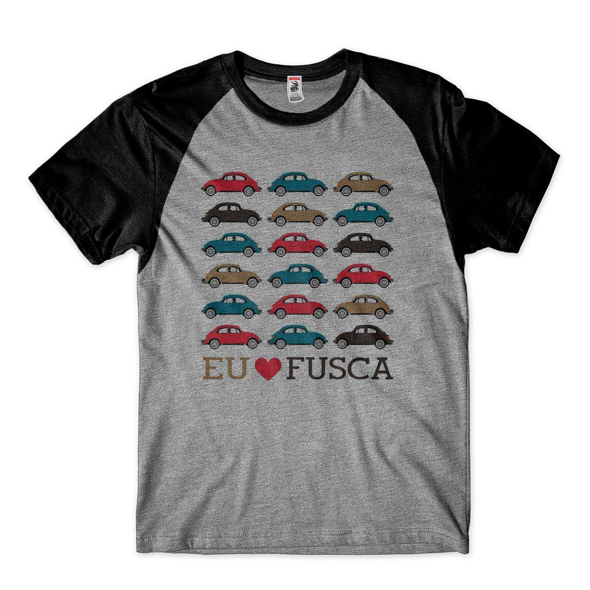 Camiseta Eu amo Fusca Camisa Masculina Carro Vintage