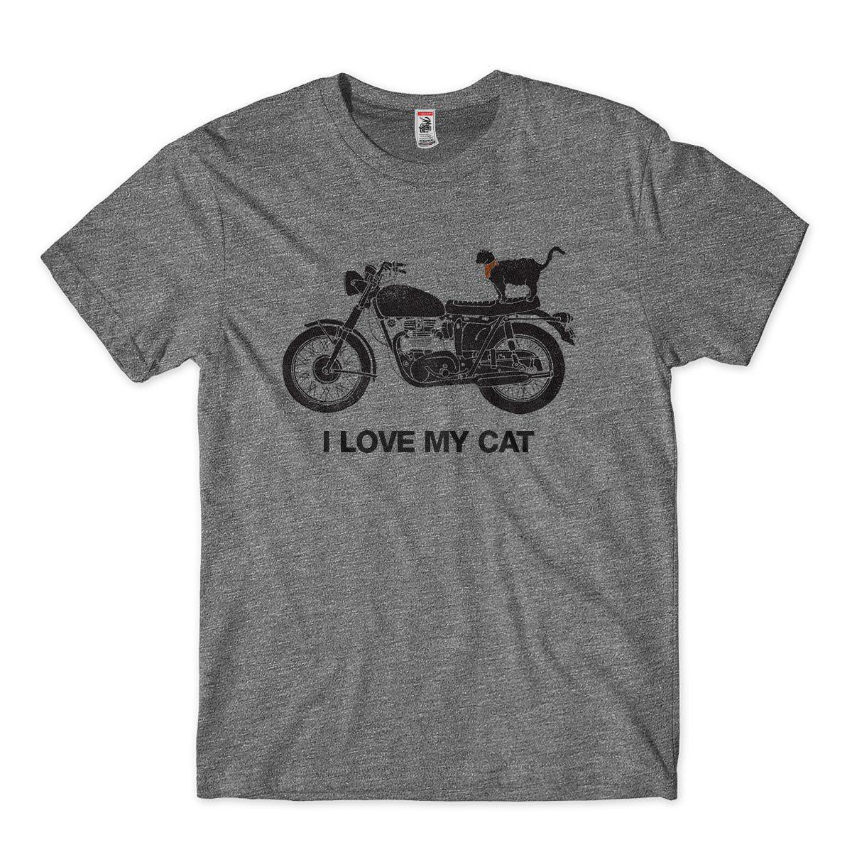 camiseta eu amo meu gato estampada