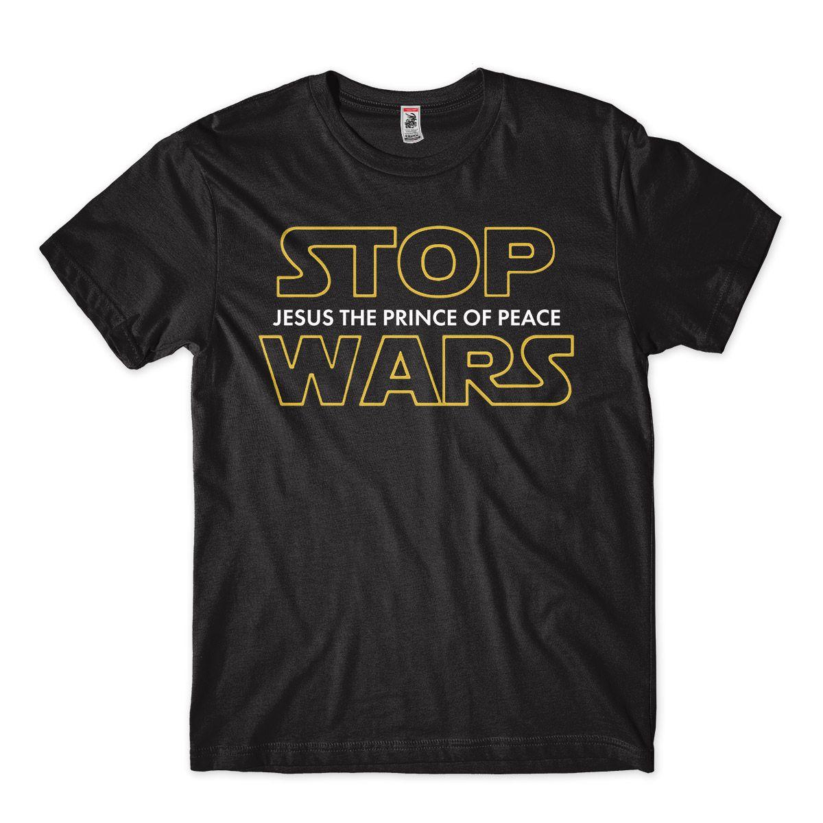 Camiseta Evangelica Camisa Gospel Star Wars Jesus Stop Wars