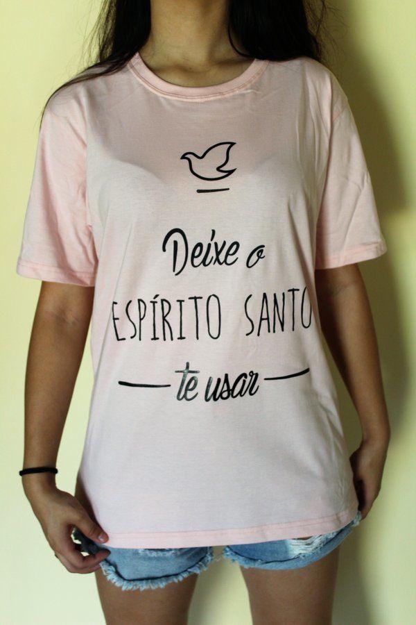 Camiseta Evangélica deixa o espirito santo te usar Divino