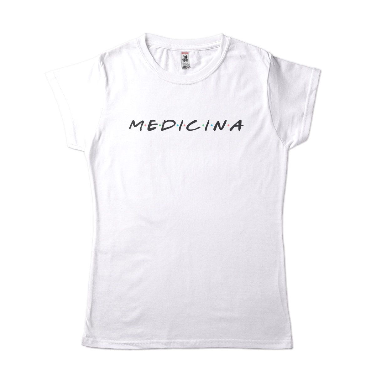 camiseta faculdade de medicina criativa estilo friends