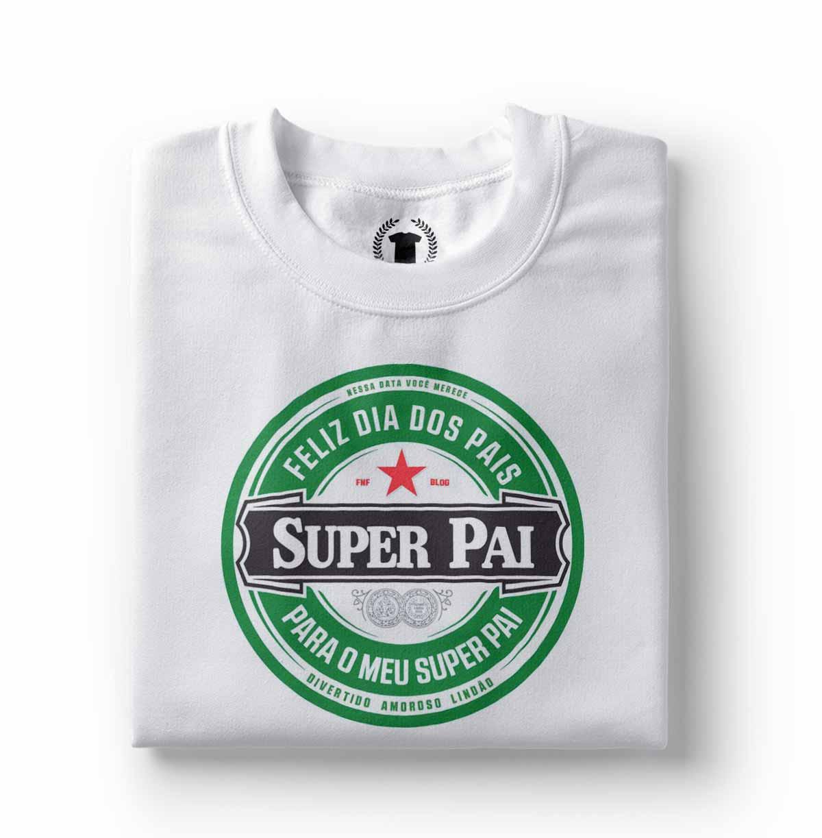 camiseta feliz dia dos pais super pai