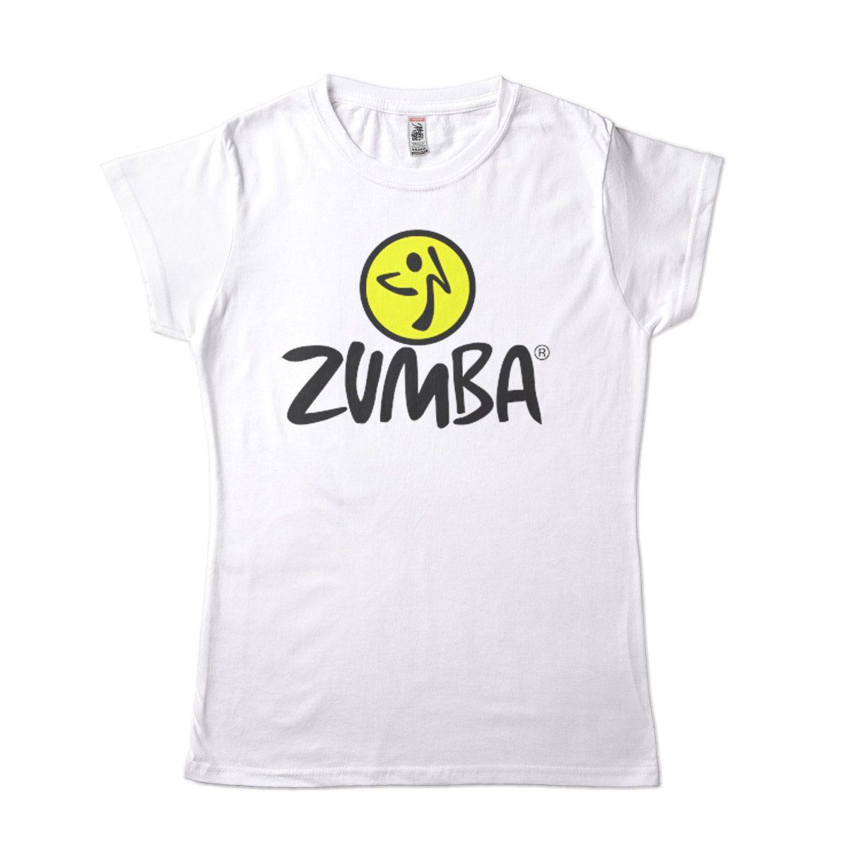 Camiseta Feminia para Zumba Branca