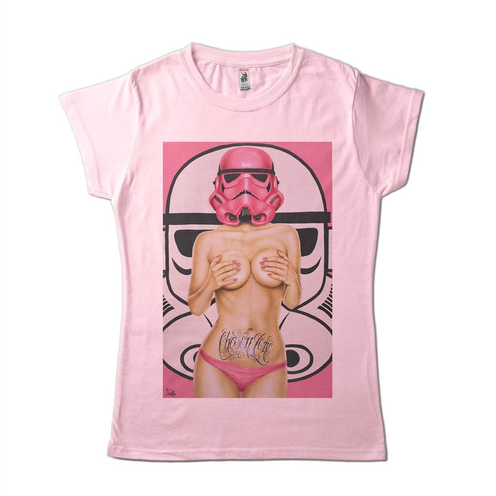 Camiseta Feminina Clone Sexy Star Wars Trooper Camisa