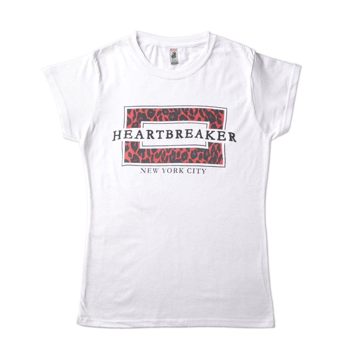 Camiseta Feminina Heartbreaker NY Animal Print Oncinha