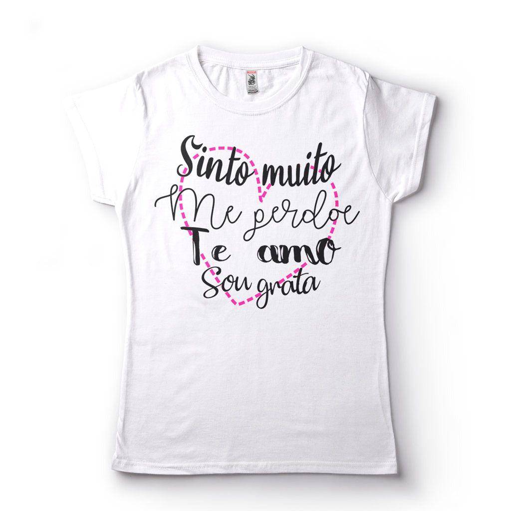 Camiseta Feminina Perdão Amor Gratidão Te amo
