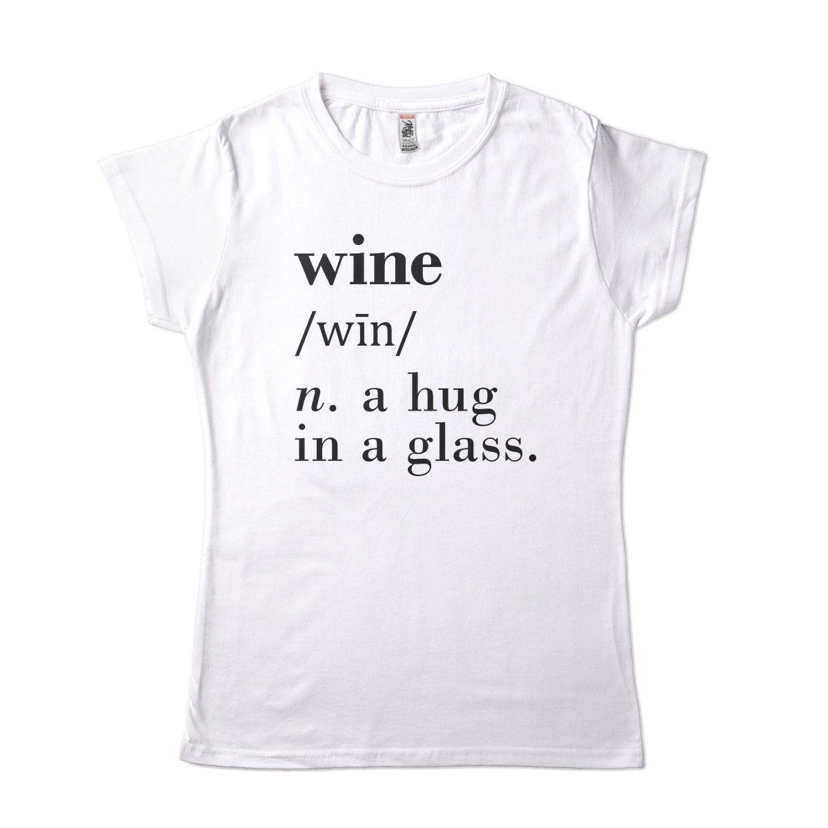 Camiseta Feminina Vinho Um Abraco numa Taca