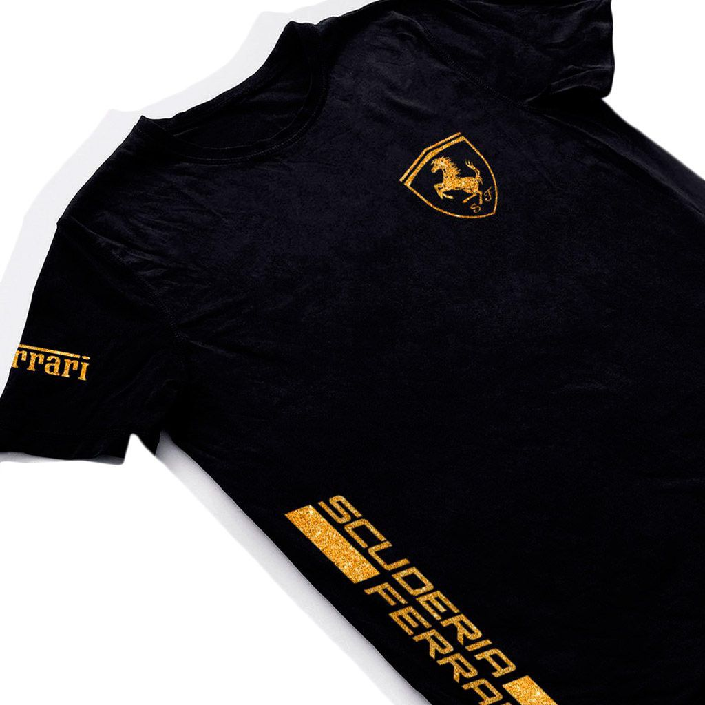 Camiseta ferrari preta camisa masulina formula1 blusa carro