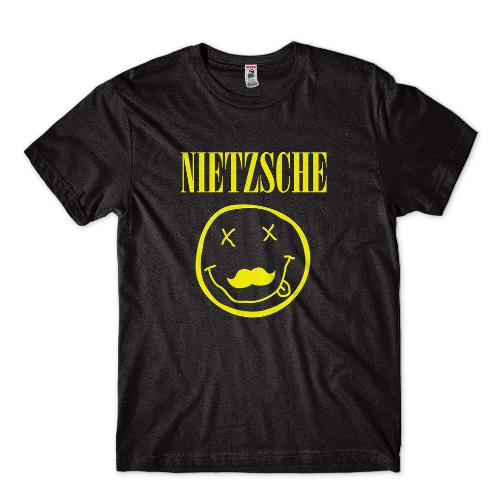 Camiseta filosifia humor Nietzsche Nirvana Sátira camisa