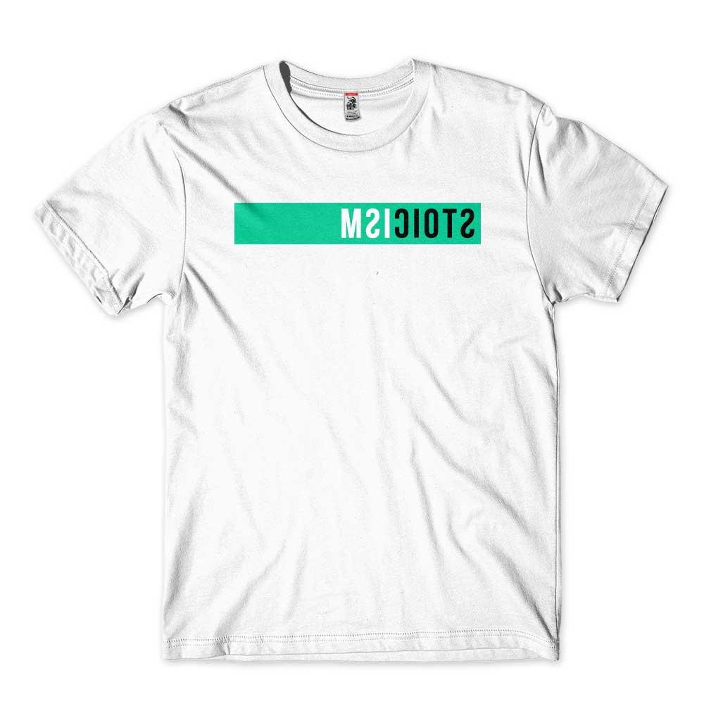 camiseta filosofia estoica branca