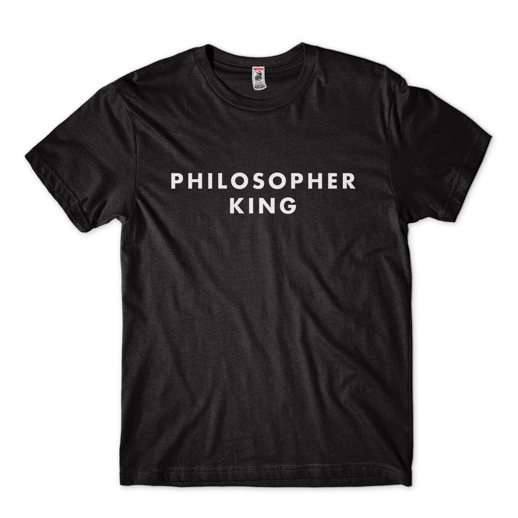 Camiseta Filosofia Philosopher King Camisa Universitaria Platão