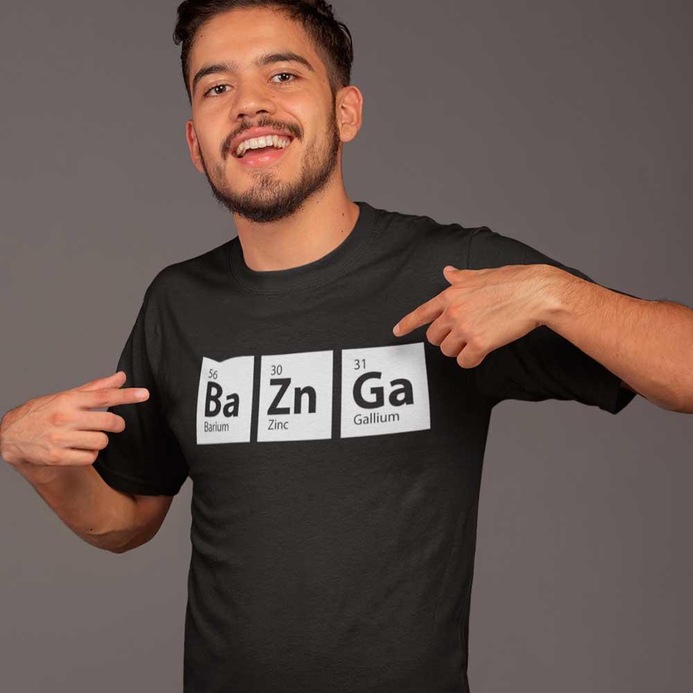 Camiseta Fisica Elemento Bazinga TBBT