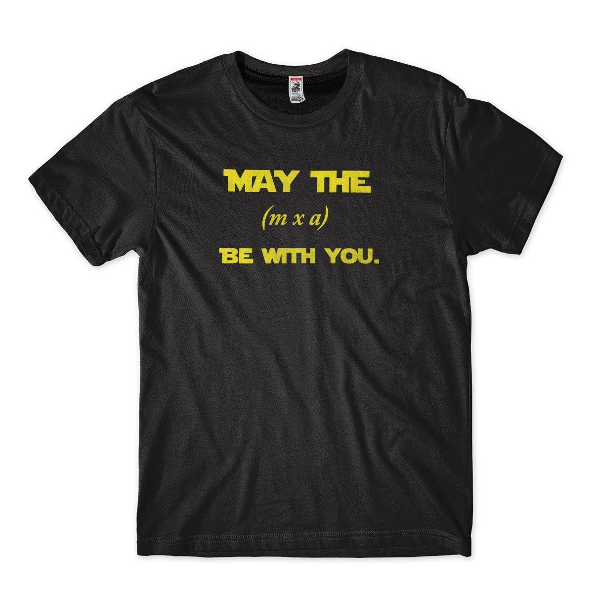 Camiseta Fisico Satira Stars War Forca Massa Aceleracao