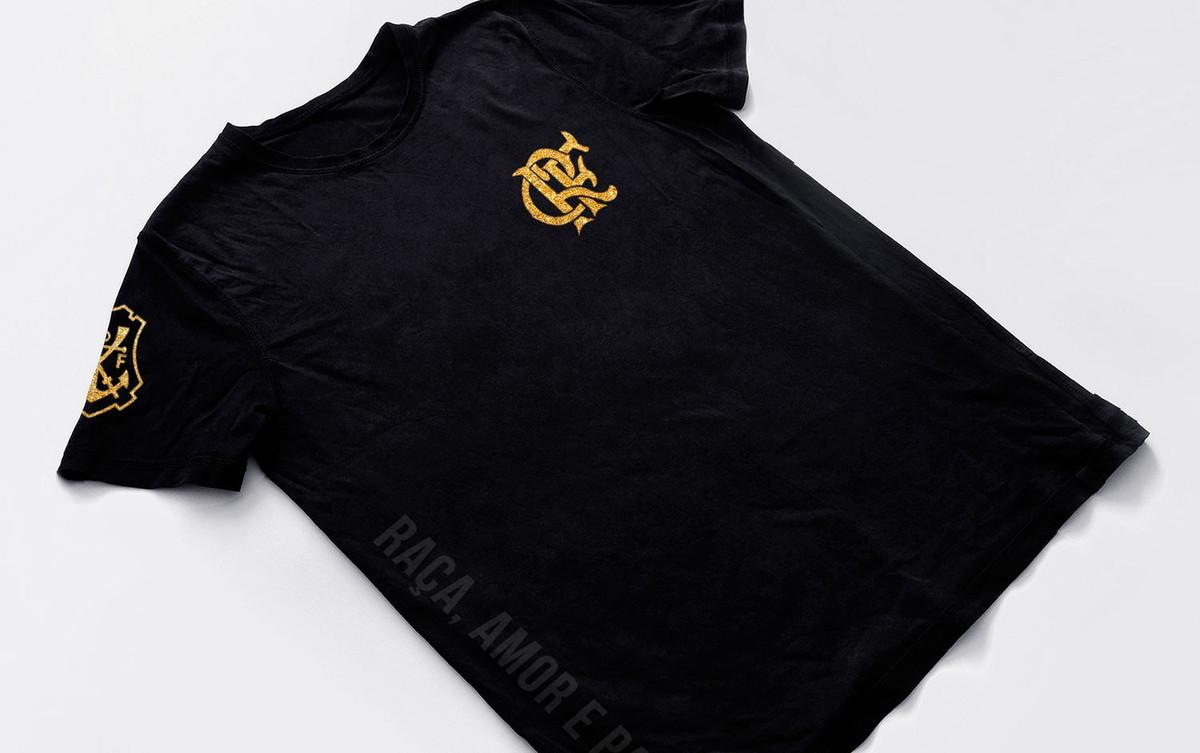 Camiseta Flamengo Campeao brasileiro 2021 preta