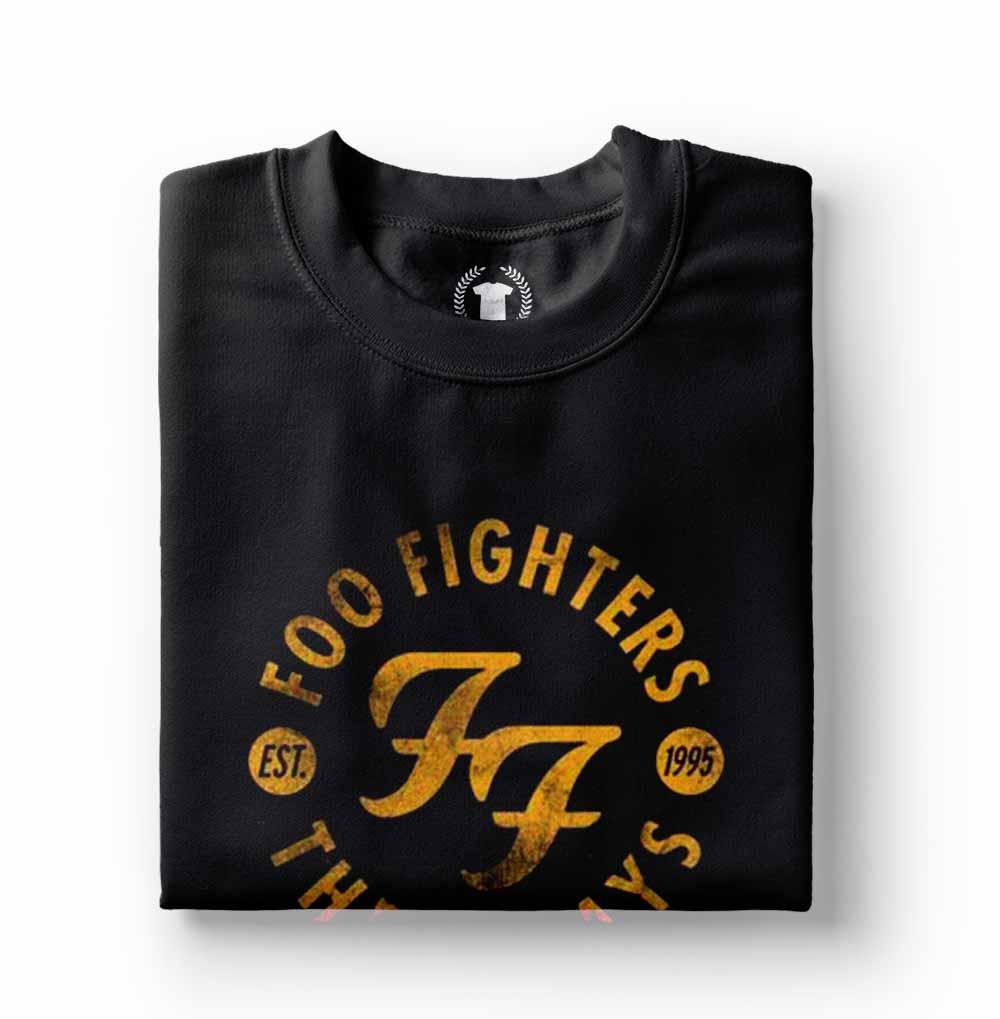 camiseta foo fighters masculina e feminina preta
