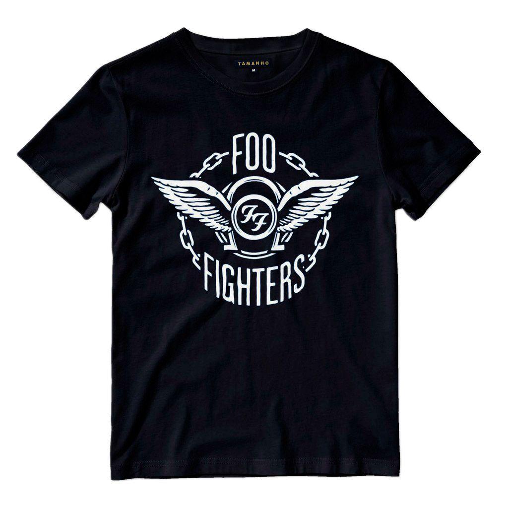 Camiseta Foo fighters Preta Masculina Bandas de Rock