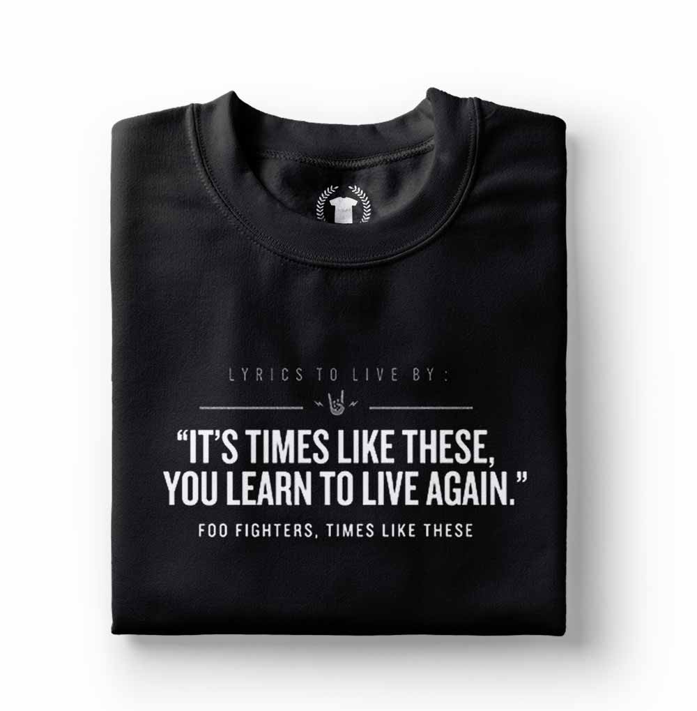 camiseta foo fighters times like these preta