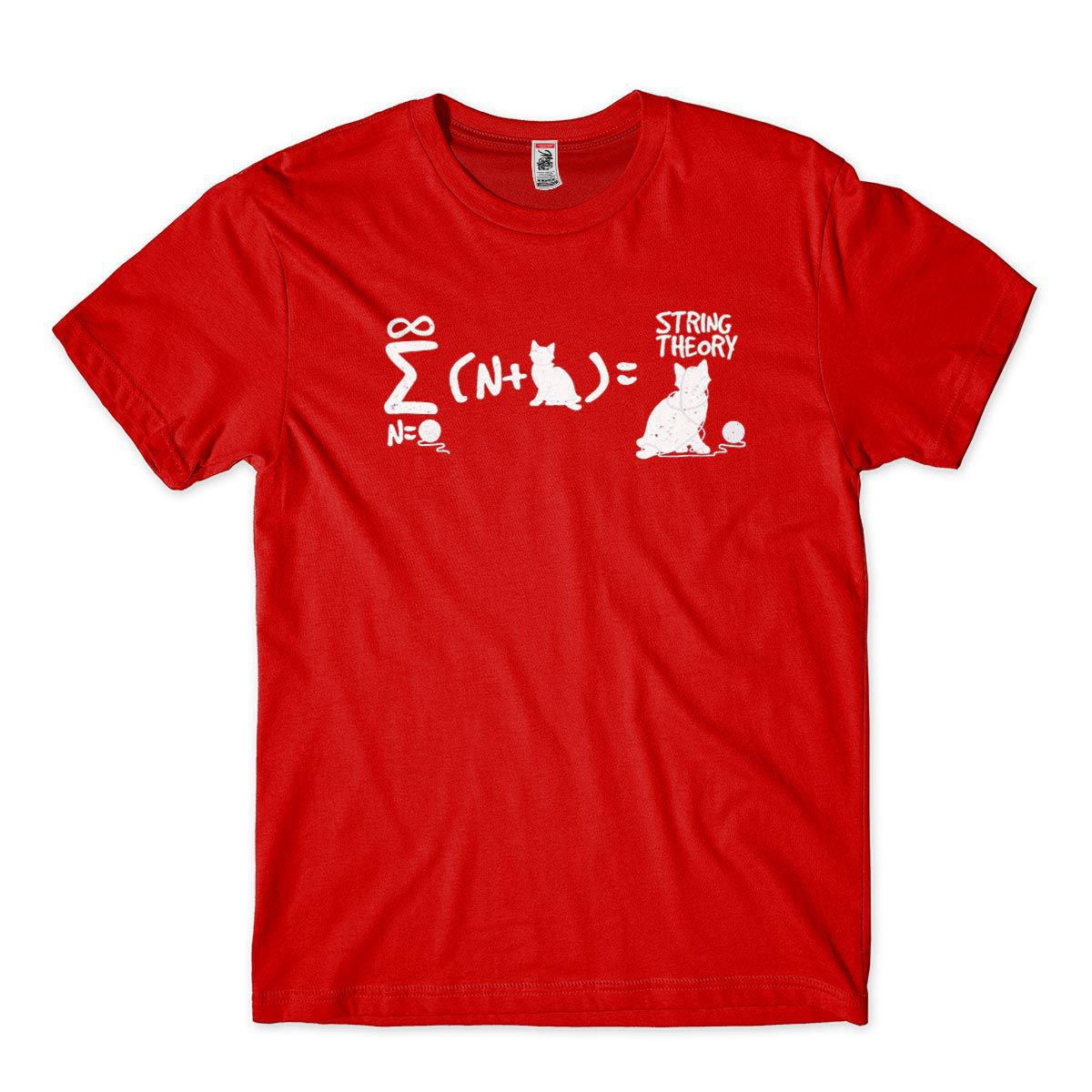 Camiseta Formula Fisica Teroria das Cordas Gato