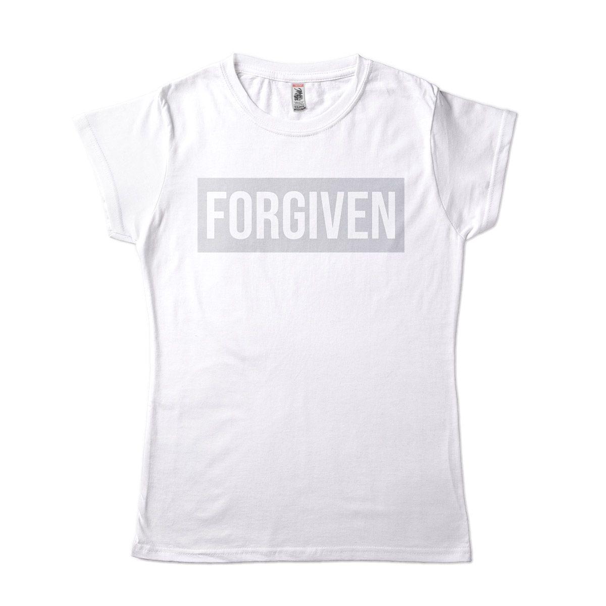 Camiseta Frases Tumblr Forgiven Camisa Religiosa Perdao