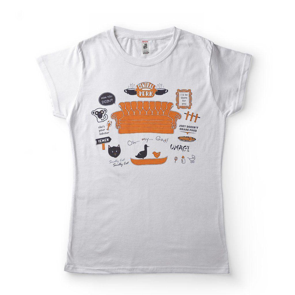 camiseta friends branca feminina frases classicas