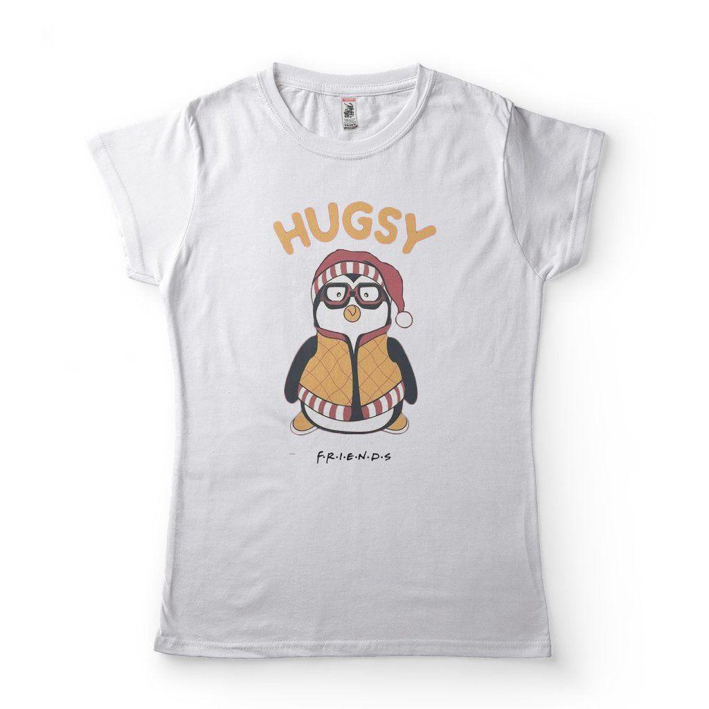 camiseta friends phoebe joey hugsy feminina branca